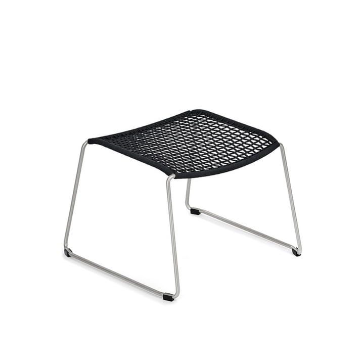 Slope footstool by Weishäupl in stainless steel / black