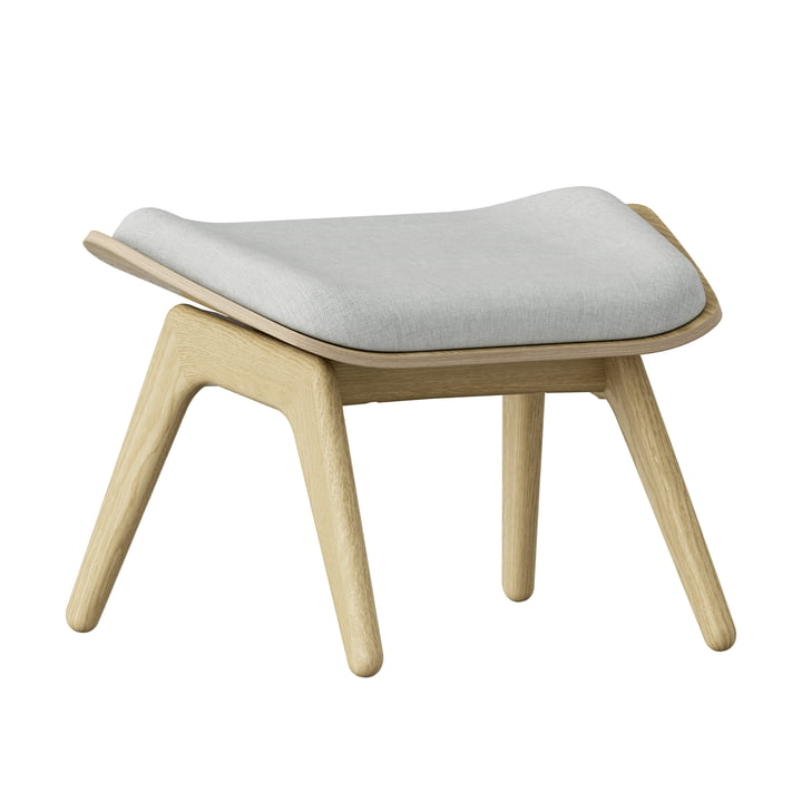 The Reader Ottoman by Umage in oak nature / silver grey