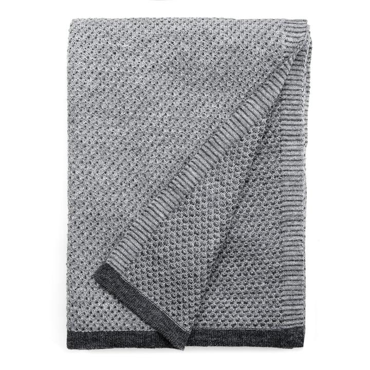 Raindrops blanket 130 x 180 cm from Elvang in grey