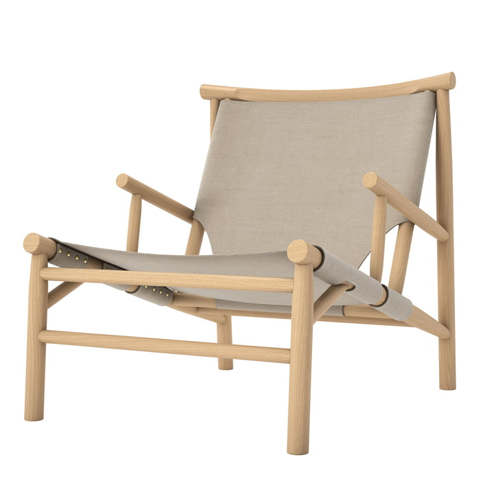 Samurai Lounge Chair by Norr11 in natural oak / canvas