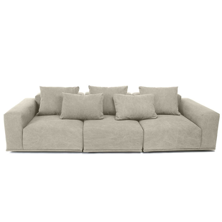 Madonna sofa 3-seater incl. cushion by Norr11 in washed beige (05)