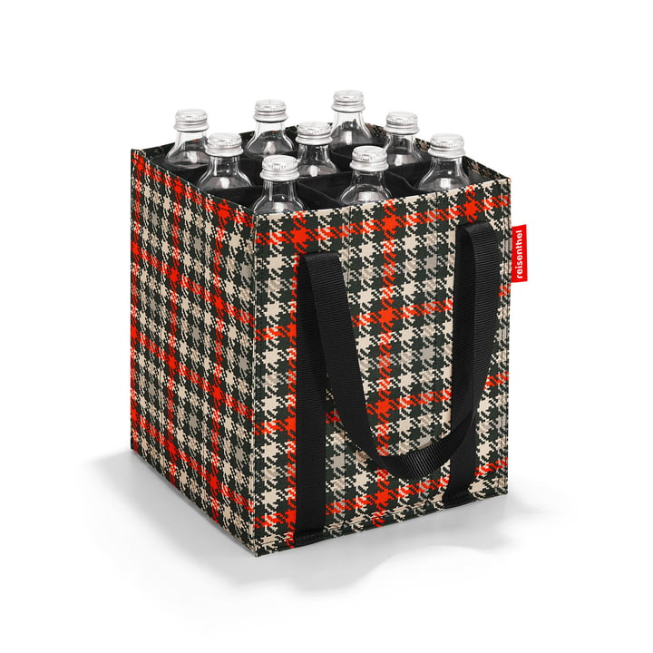 reisenthel - bottlebag, glencheck red