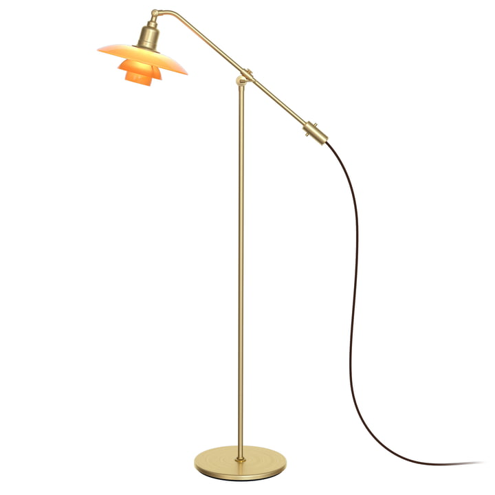 "PH 3/2 ""The Waterpump"" floor lamp by Louis Poulsen in amber / brass (Limited Edition 2019)"