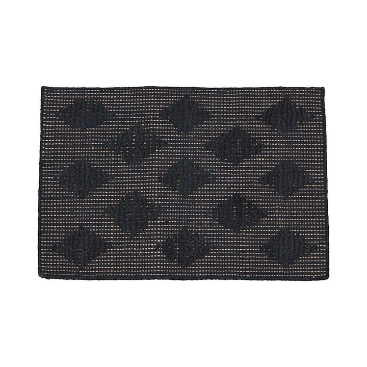 Cubie doormat 50 x 70 cm by House Doctor in black