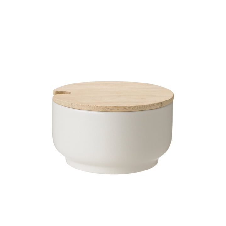 Theo sugar bowl from Stelton in sand