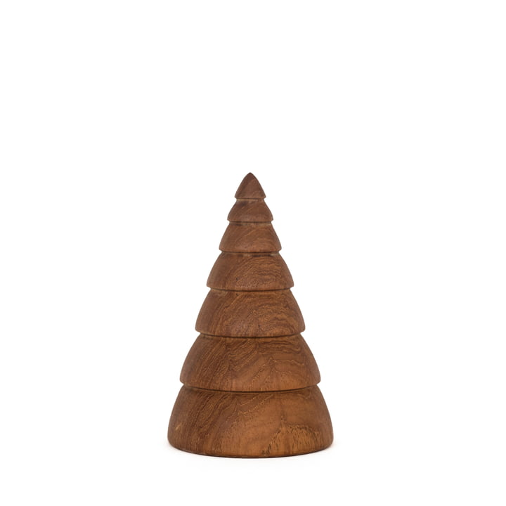 Jul Christmas Decoration Christmas Tree small by ArchitectMade in Teak