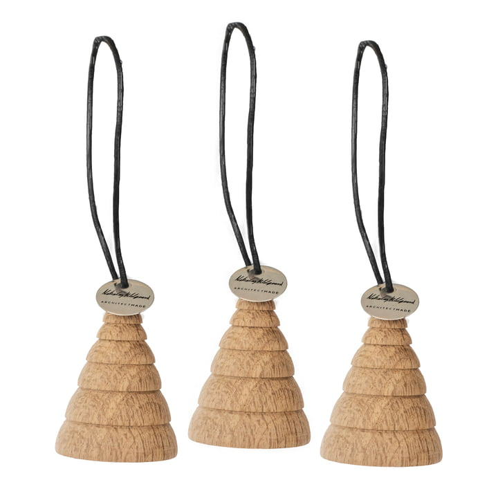 Jul Christmas tree decorations Christmas tree from ArchitectMade in oak (set of 3)