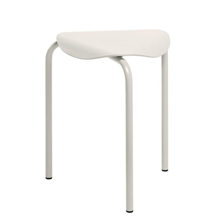 Lukki stool by Artek painted in stone white