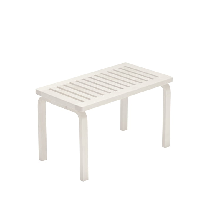 Bench 153B by Artek in white lacquered