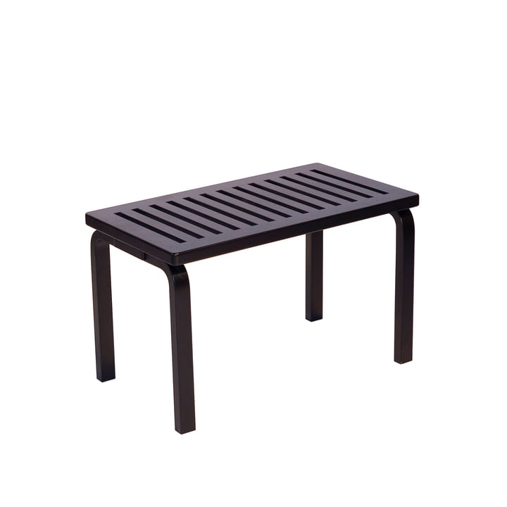 Bench 153B by Artek in black lacquered