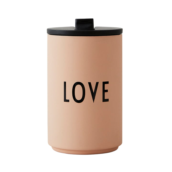 Thermo Cup 0.35 l Hot by Design Letters in soft camel