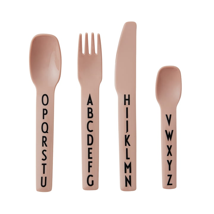 AJ Melamine cutlery set by Design Letters in nude