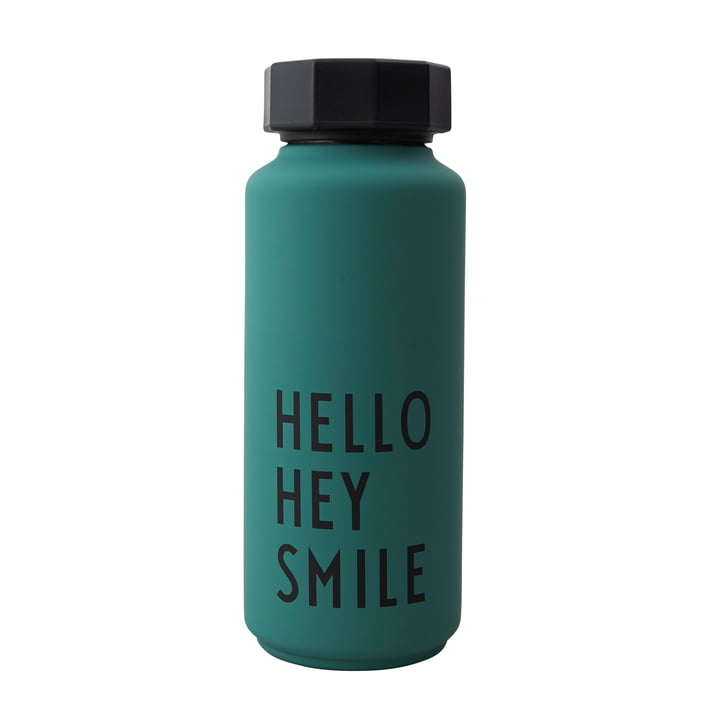 AJ Thermos bottle Hot & Cold 0.5 l Hello Hey Smile by Design Letters in dark green