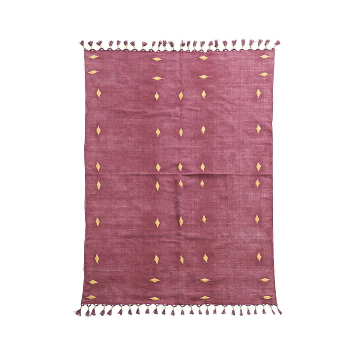 Backside carpet 200 x 140 cm by House Doctor in wine red