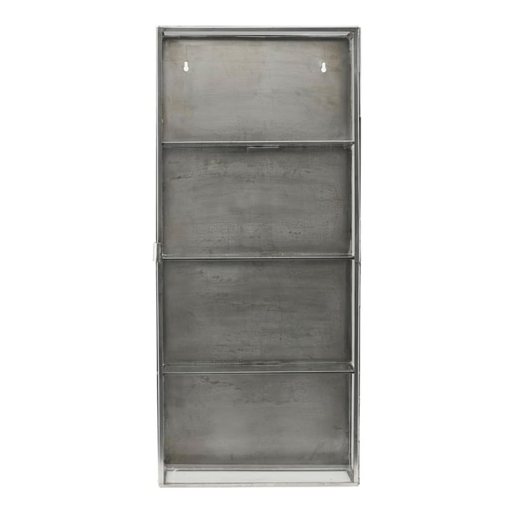 Zinc wall cabinet 80 cm from House Doctor in stainless steel / glass