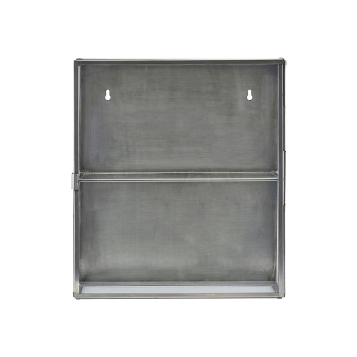 Zinc wall cabinet 40 cm from House Doctor in stainless steel / glass