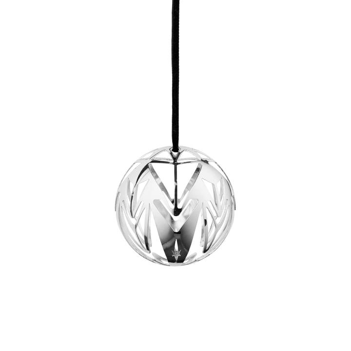 Karen Blixen Christmas bauble Ø 6,5 cm from Rosendahl in silver plated