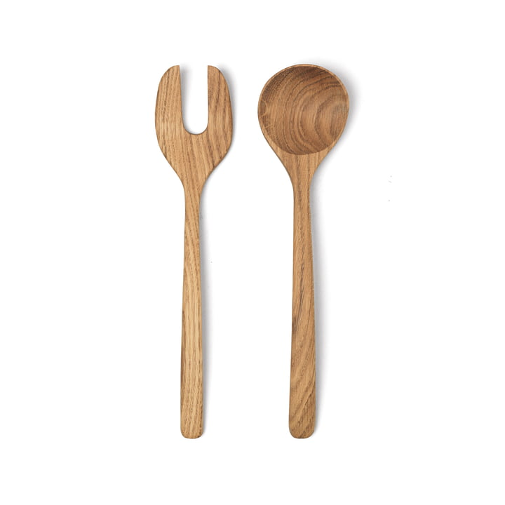 Menageri salad servers from Kay Bojesen in oak