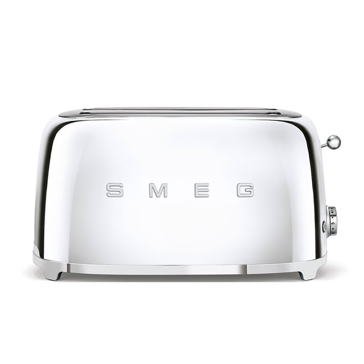 2-Slot Toaster TSF02, long / Chrome by Smeg