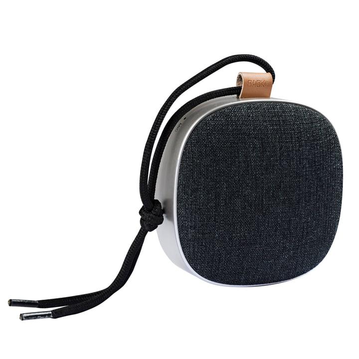 Woof it Go speaker from Sack it in silver / black