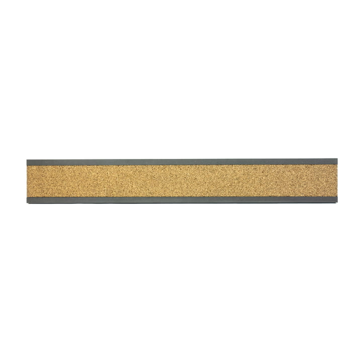 Connox Collection - Pin cork strip, MDF black / horizontal / 90cm