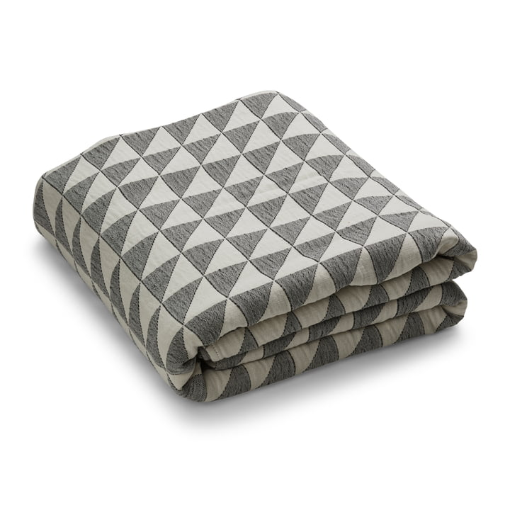 Facet bedspread, beige / black by Georg Jensen Damask
