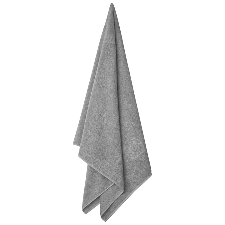 Damask Terry bath towel, 70 x 140 cm / light grey by Georg Jensen Damask
