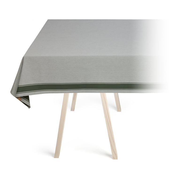 Solid tablecloth, army green by Georg Jensen Damask