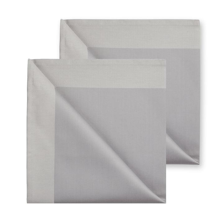 Damask cloth napkins 50 x 50 cm, zinc (set of 2) by Georg Jensen Damask