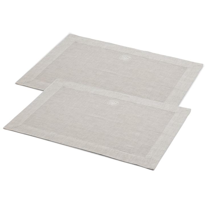 Plain table set rectangular, 50 x 36 cm, grey (set of 2) by Georg Jensen Damask