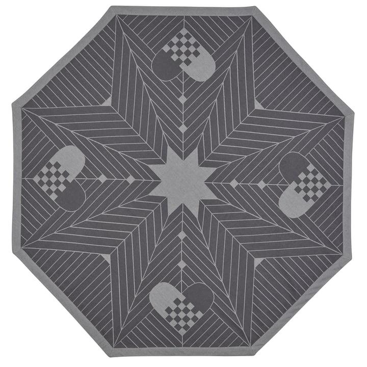 Octagon Christmas tree carpet, 130 x 130 cm / grey by Georg Jensen Damask