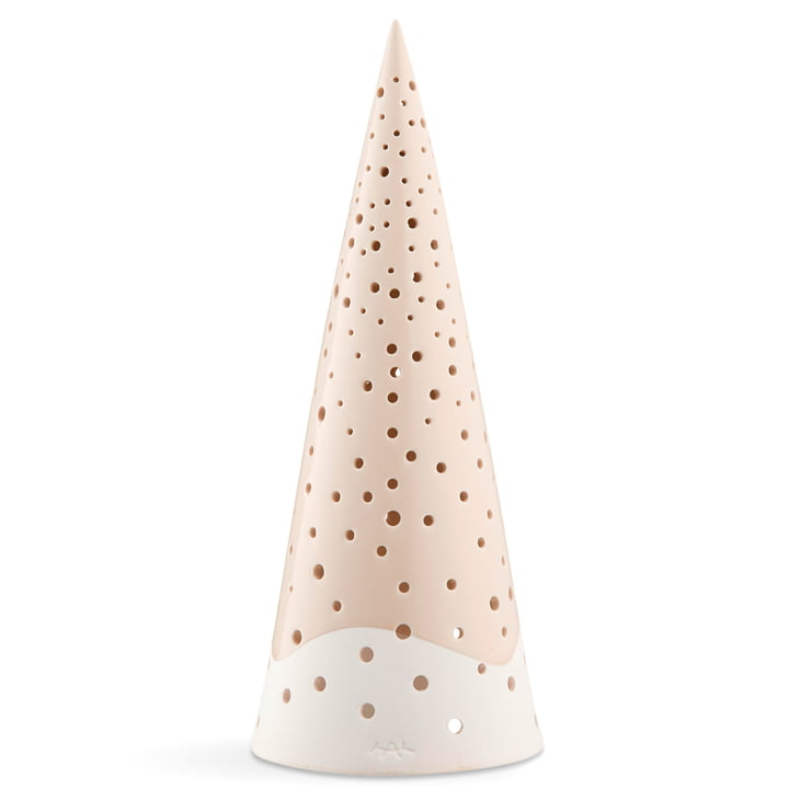 Nobili tealight candle cone 30 cm from Kähler design in nude