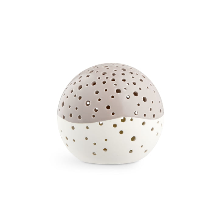 Nobili tealight candle ball Ø 12 cm from Kähler design in warm grey