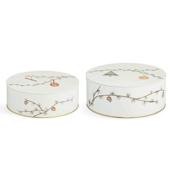 Hammershøi Christmas boxes Ø 20 cm / Ø 22 cm (set of 2) by Kähler Design