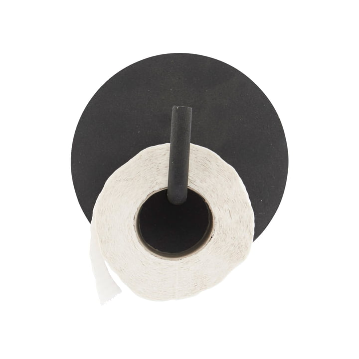 Toilet paper holder text, black by House Doctor