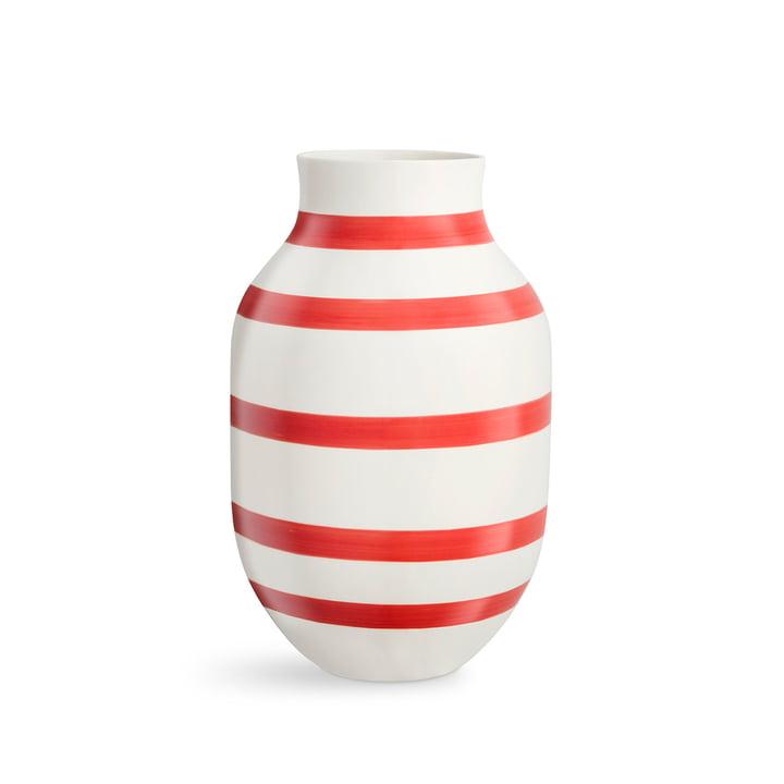 Omaggio Vase H 305 from Kähler Design in scarlet