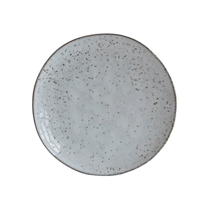 Plate Rustic Ø 20,5 cm, grey-blue by House Doctor