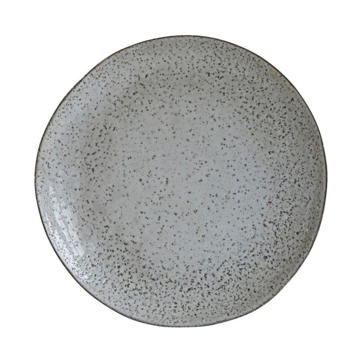 Plate Rustic Ø 27,5 cm, grey-blue by House Doctor
