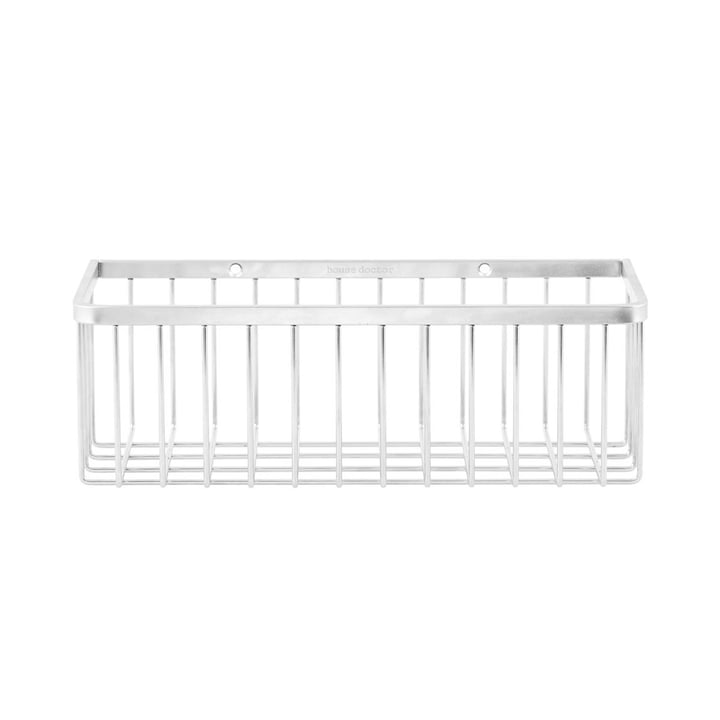 Basket Bathroom Storage, single/ Stainless Steel by House Doctor