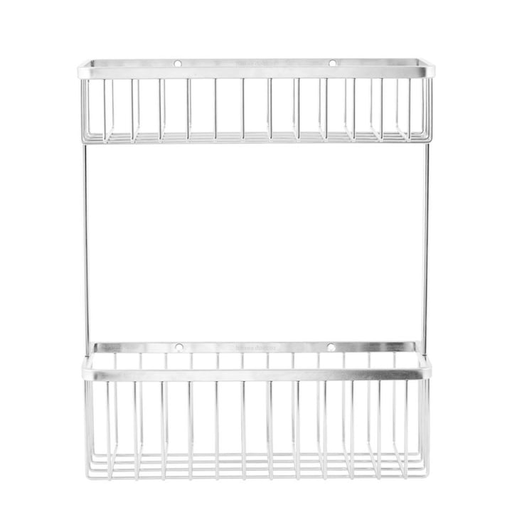 Basket Bathroom Storage, double/ Stainless Steel by House Doctor