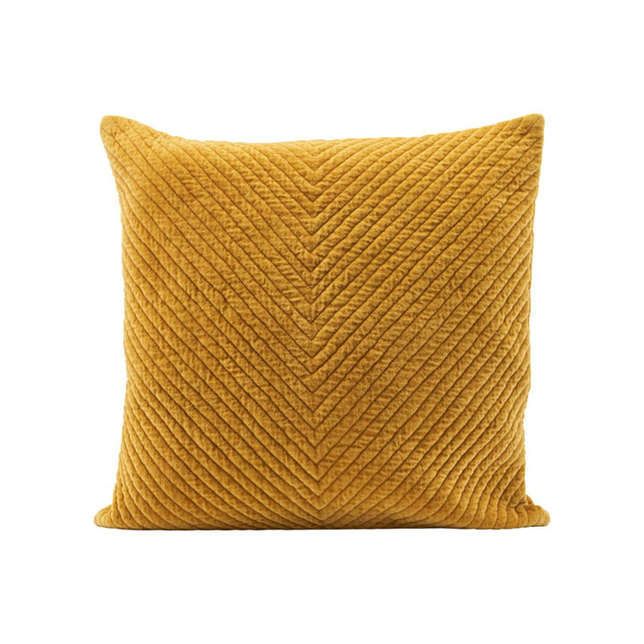 Velv Velour cushion cover, 50 x 50 cm, curry by House Doctor