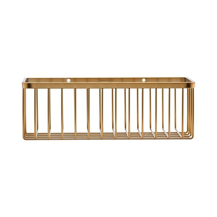 Basket Bathroom Storage, single / Brass by House Doctor