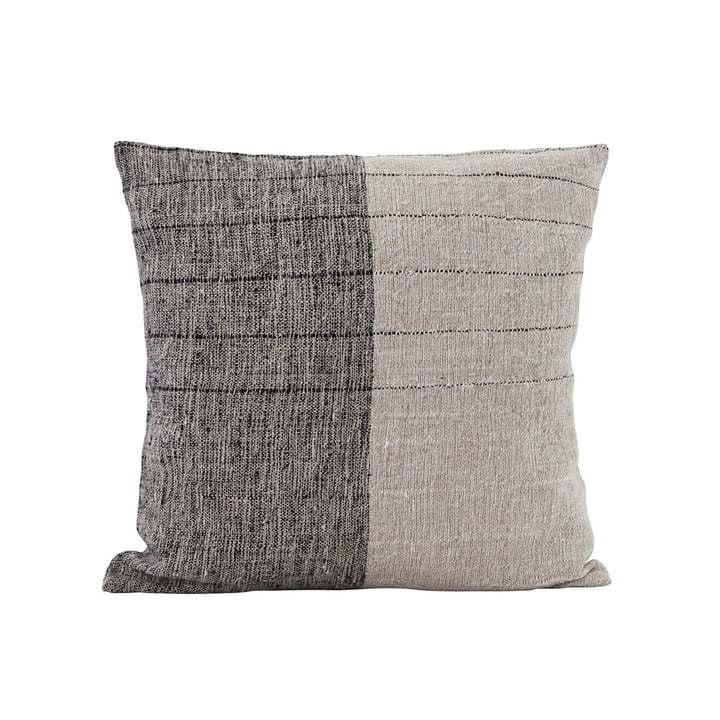 Dived pillowcase, 50 x 50 cm, black / off-white by House Doctor