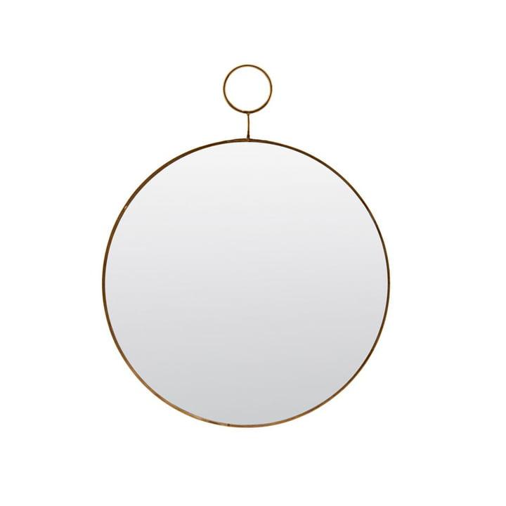 Loop wall mirror Ø 32 cm, brass by House Doctor
