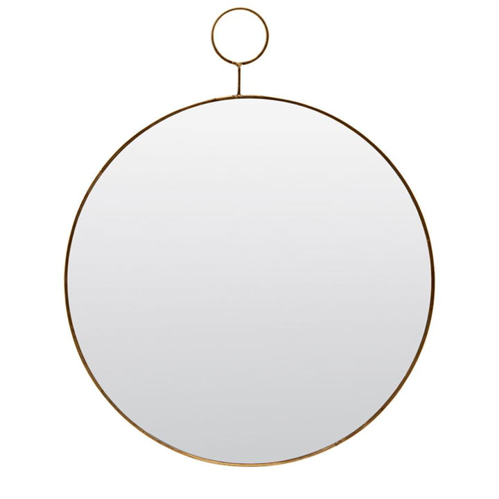 Loop wall mirror Ø 38 cm, brass by House Doctor