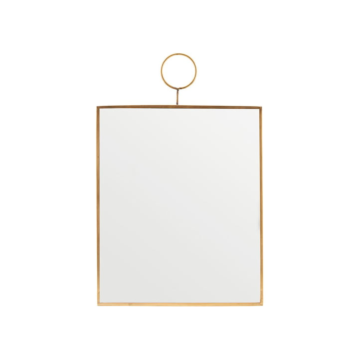 Loop wall mirror, 25 x 30 cm, brass by House Doctor