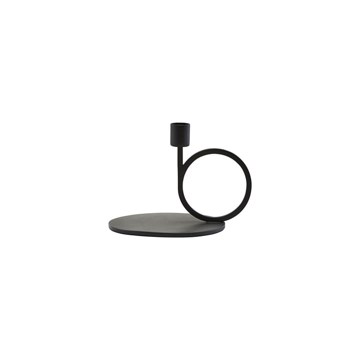 Candleholder Cirque H 12,8 cm, black by House Doctor