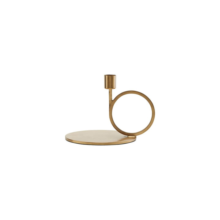 Candlestick Cirque H 12,8 cm, brass by House Doctor