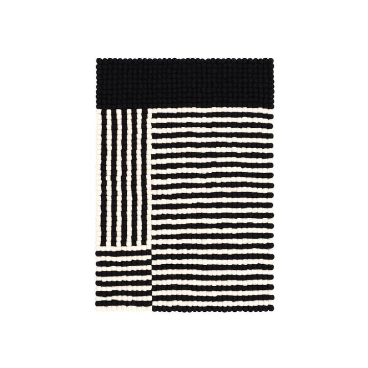 Lino felt ball carpet 70 x 100 cm from myfelt in black / white