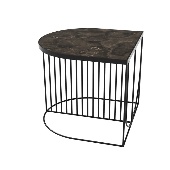 Sino coffee table 50 x 50 cm from AYTM in black / marble brown